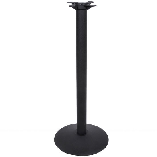 "Peter Meier 3000 Series Table Height Base, 17"" Round, 29"" High, Black Matte"