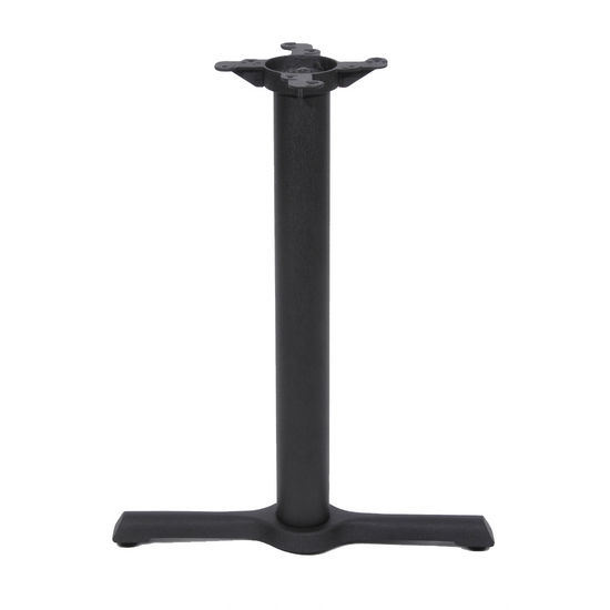 "Peter Meier 2000 Series Table Height Base, 5"" x 22"", End Style X, 28"" High, Black Matte"