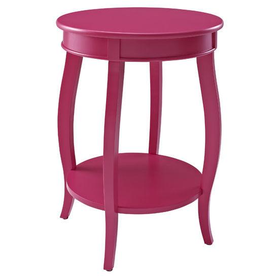 Bubblegum Round Table with Shelf