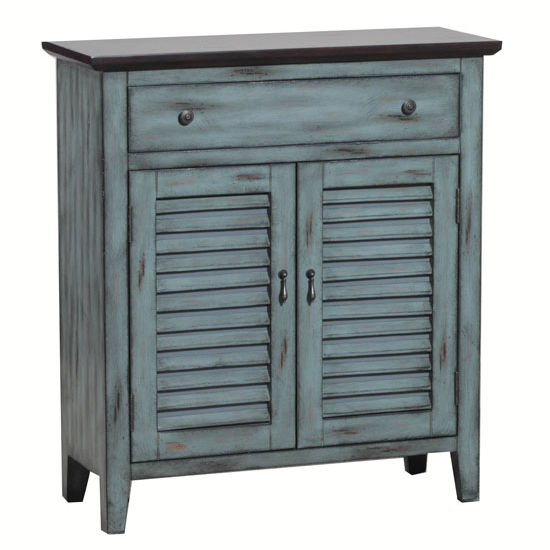 Two Tone Shutter Door Cabinet With Drawer And 2 Doors In