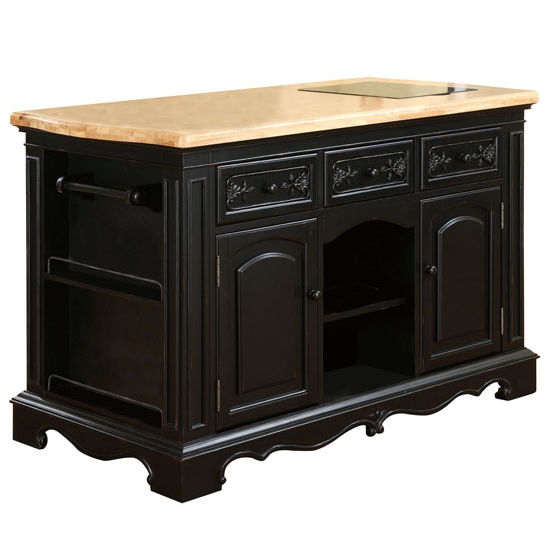 Powell Pennfield Distressed Black Kitchen Island Stools