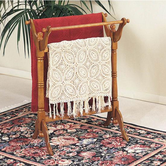 Oak Blanket/Quilt Rack