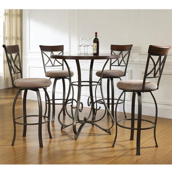 5 Pc Hamilton Table Amp Chair Set In Pub 36 H Or