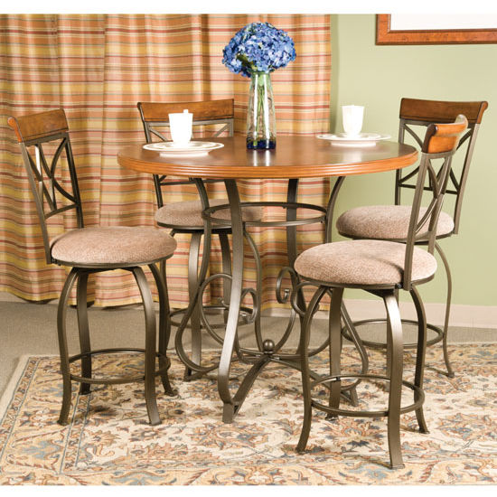 5-Pc. Hamilton Gathering Counter Height Set - (1) 697-441 Gathering Table & (4) 697-726 Swivel Counter Stools
