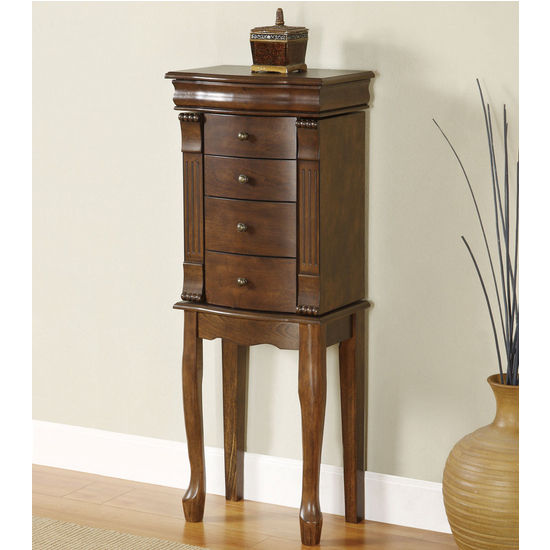 Powell Louis Philippe �Walnut� Jewelry Armoire