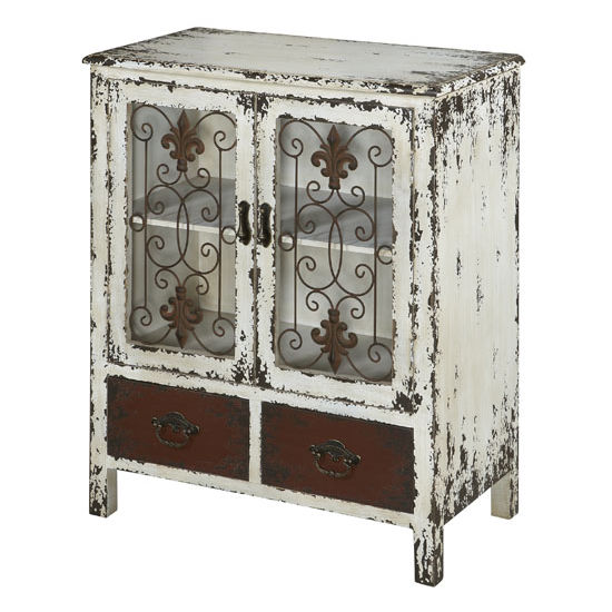 Parcel 2 Door 2 Drawer Console Table In Distressed
