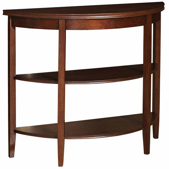 Powell Shelburne Cherry Demi-lune Console Table with 2 Shelves