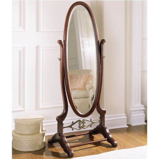 Heirloom Cherry Cheval Mirror