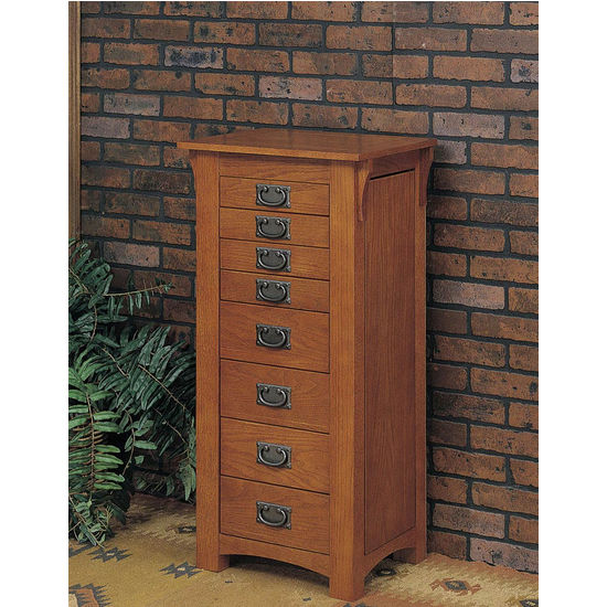 Cabinet Organizers   Free Standing Jewelry Armoire   Mission Oak Finish  With Hardware Finished In Mission Gray By Powell | Kitchensource.com