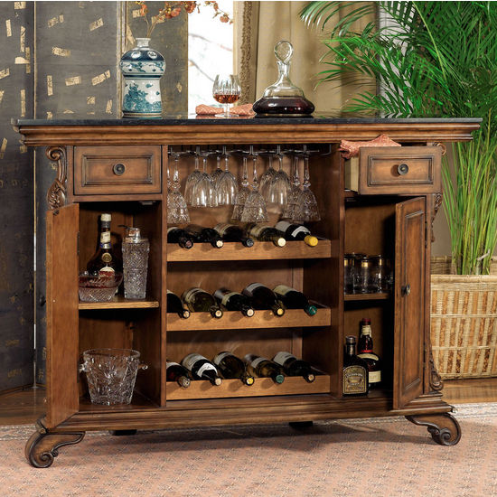 "Wine Racks Bourbon Street Yorktown Cherry"" Traditional"