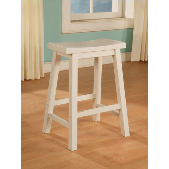 Pure White Counter Stool