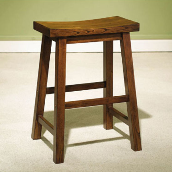 Honey Brown Backless Stool