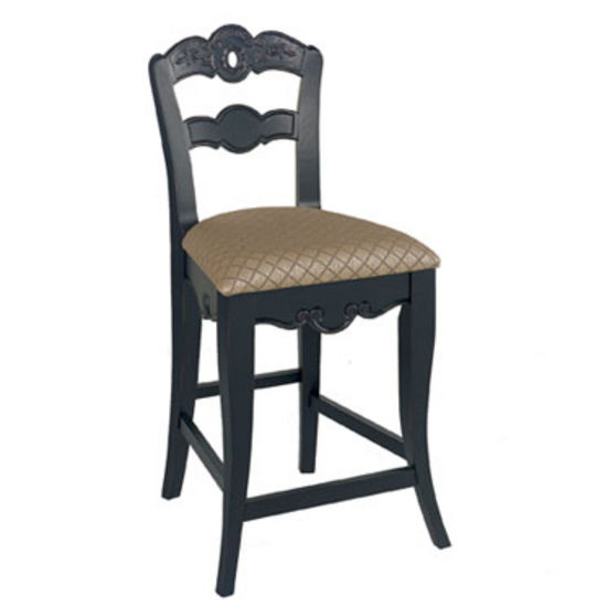 Hills of Provence Rich Antique Black Counter Stool by Powell