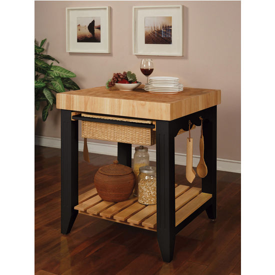 Powell Color Story Kitchen Island With Butcher Block Top Kitchensource