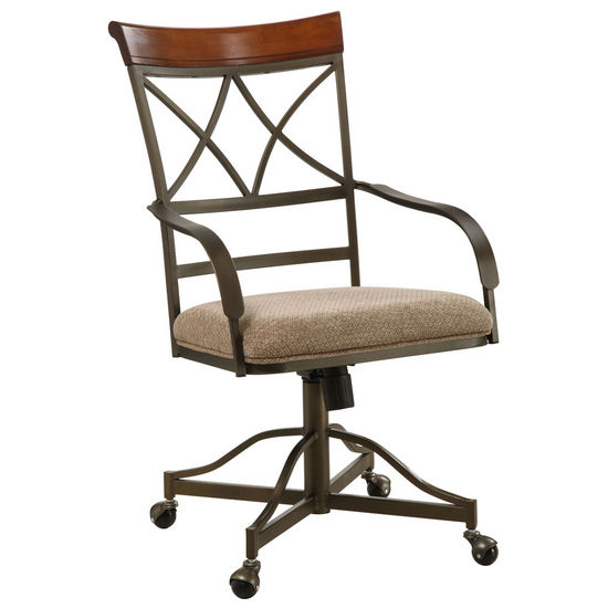 Hamilton Swivel-Tilt Castered Dining Arm Chair