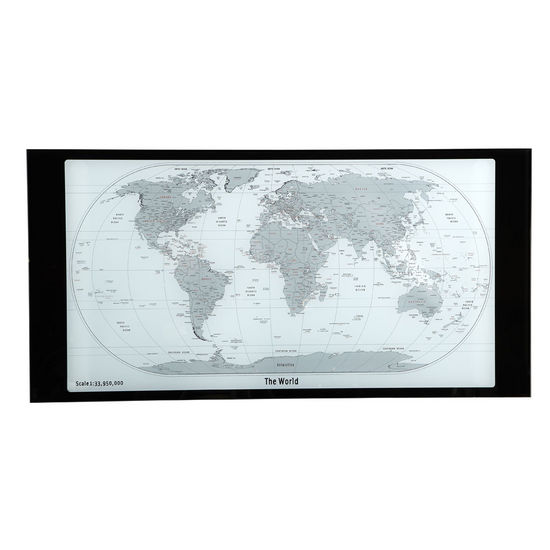 Powell world map printing curved x sided computer desk view larger image gumiabroncs Gallery