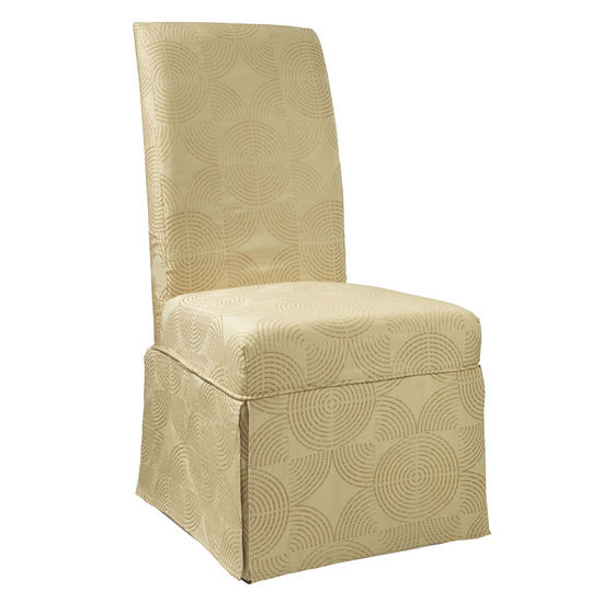 "Zest Yellow Circle Skirted ""Slip Over"" (Fits 741-440 Chair)"