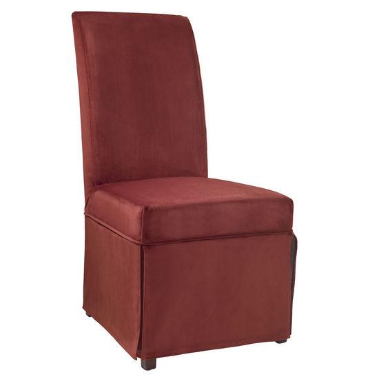 """Poppy Red Velvet Skirted """"Slip Over"""" (Fits 741-440 Chair)"""