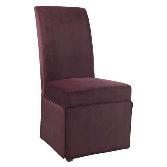 "Port Purple Velvet Skirted ""Slip Over"" (Fits 741-440 Chair)"