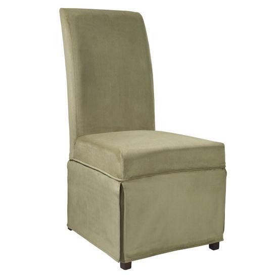 """Basil Green Velvet Skirted """"Slip Over"""" (Fits 741-440 Chair)"""