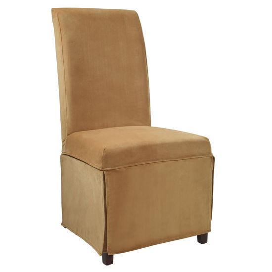 """Butternut Gold Velvet Skirted """"Slip Over"""" (Fits 741-440 Chair)"""