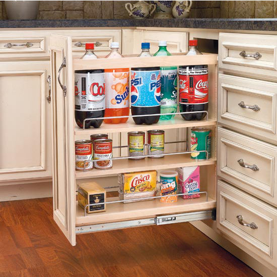 Adjustable Wood Pull-Out Organizers & Cabinet-Organizers - Adjustable Wood Pull-Out Organizers for Kitchen ...