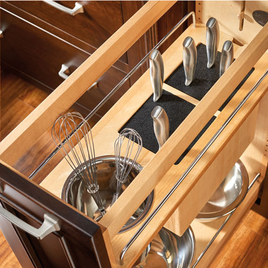 Rev-A-Shelf Pull-Out Knife And Utensil Base Cabinet