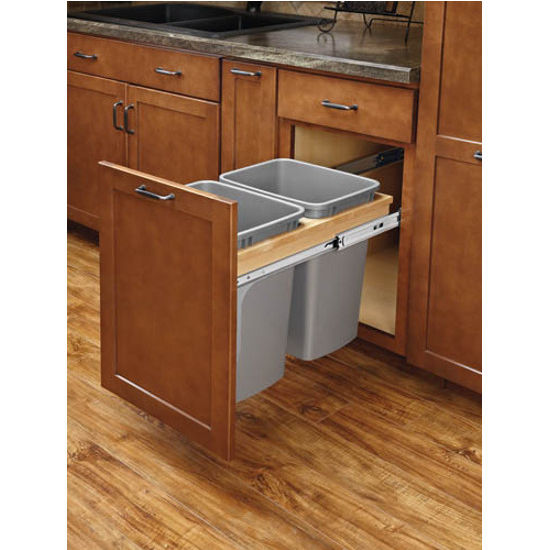 Kitchen Cabinet Accessories Pull Out: Rev-A-Shelf Soft Close Top Mount Double Pull-Out Waste