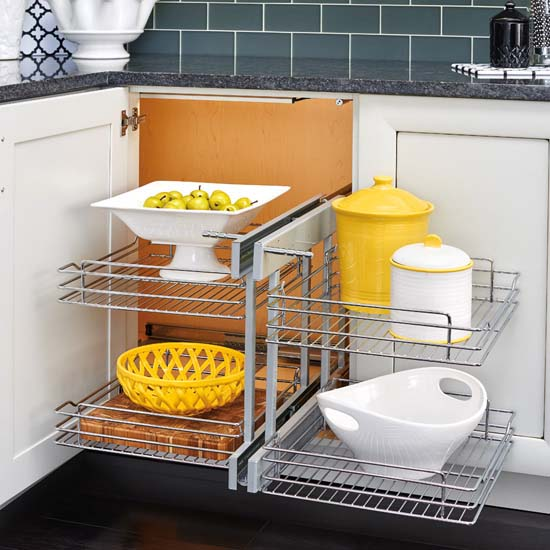 Rev-A-Shelf Blind Corner Wire Pullout Organizer with Soft Close