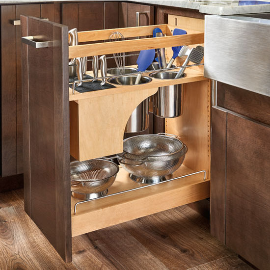 kitchen utensils storage cabinet rev a shelf pull out knife and utensil base cabinet 22115
