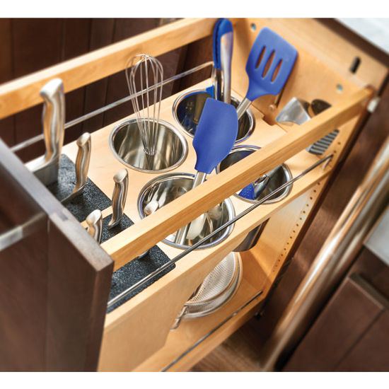 kitchen utensil organizer drawer rev a shelf pull out knife and utensil base cabinet 6370