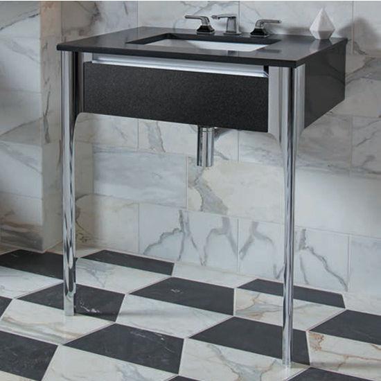 Robern Bathroom Vanities: Balletto Collection 7-1/2'' H Slim Drawer Bathroom Vanity