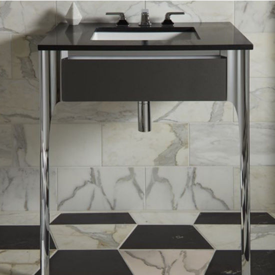 Robern Balletto Collection Slim Drawer Bathroom Vanity with Tip Out Drawer in Multiple Sizes and Color Options