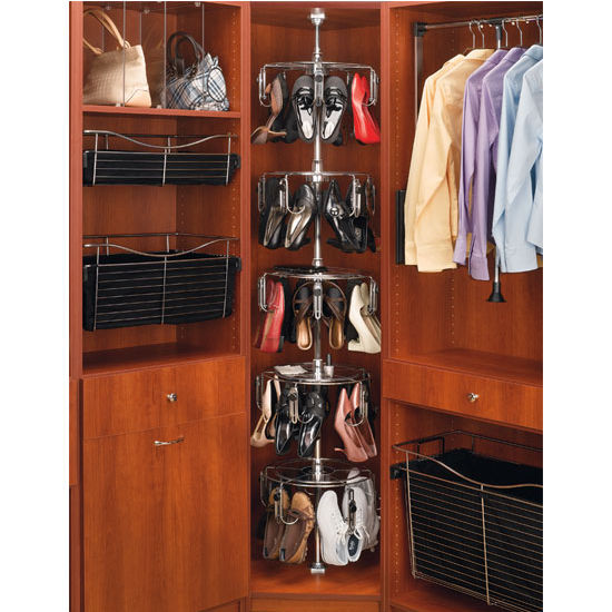 Rev-A-Shelf Women's 5-Tier Lazy Shoe-zen, Holds up to 25 Pairs, Chrome