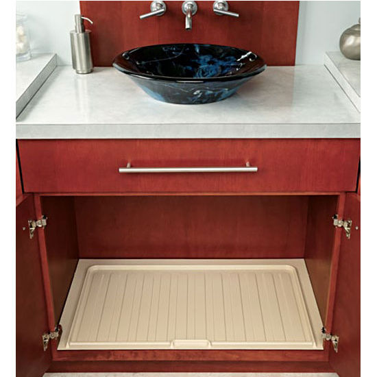 """Rev-A-Shelf Vanity Drip Tray, Almond, 22-1/2""""W"""