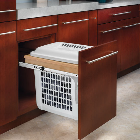 Rev-A-Shelf Rev-A-Motion Pull Out Top Mount Wood Hamper