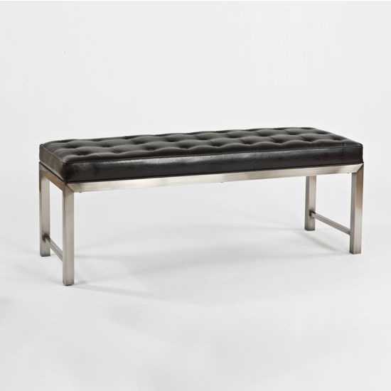 "Hillsdale Furniture Chatham Bench, Antique Nickel & Dusty Black Finish, 52"" W x 18"" D x 20"" H"