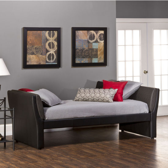 Natalie Daybed , Black Faux Leather