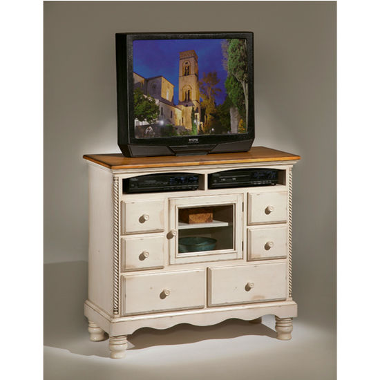 Hillsdale Furniture Wilshire TV Chest, White Finish