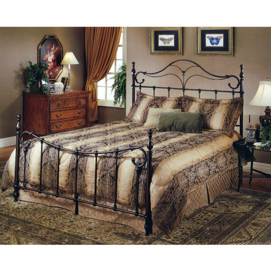 Hillsdale Furniture Bennett Collection Full Bed Set with Rails in Antique Bronze (Set Includes: Headboard, Footboard and Rails)
