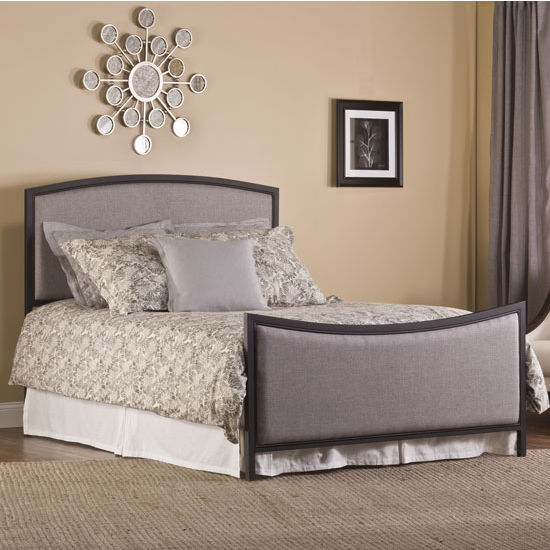 "Hillsdale Furniture Bayside Bed Set, with Rails, Textured Black & Grey Finish, 53-3/4"" W x 78-1/4"" D x 53"" H"