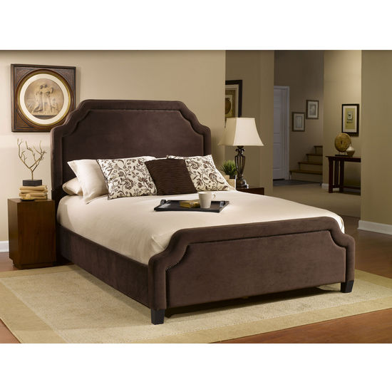 Carlyle Cal King Bed Set w/ Rails, Chocolate