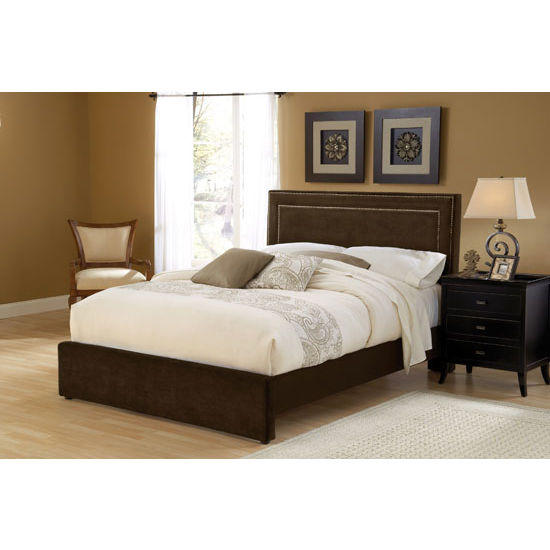 Amber Cal King Bed Set w/ Rails, Chocolate