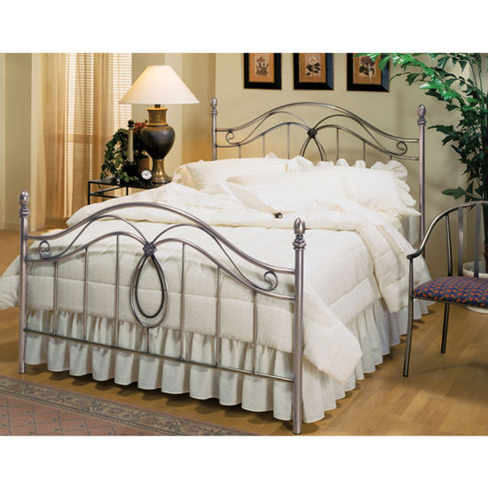 Hillsdale Furniture Milano Collection Full Bed Set with Rails in Antique Pewter (Set Includes: Headboard, Footboard and Rails)