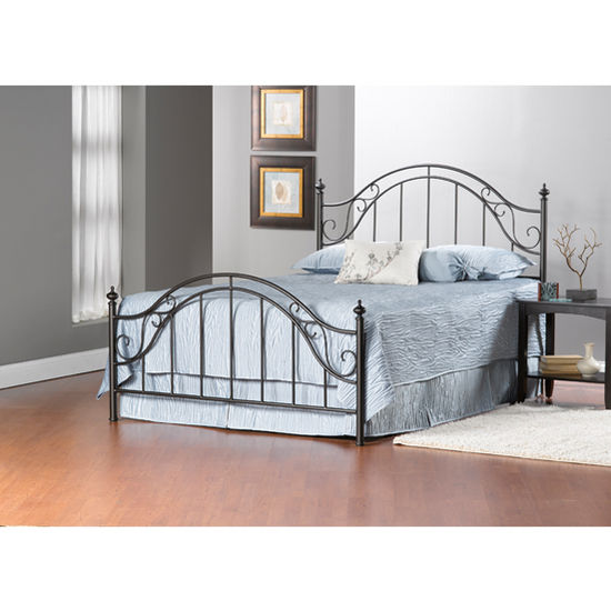 Hillsdale Furniture Clayton Collection Full Bed Set with Rails in Matte Brown (Set Includes: Headboard, Footboard and Rails)