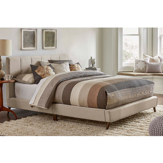 Hillsdale Aussie King Bed Set with Bed Rails, Fog Fabric