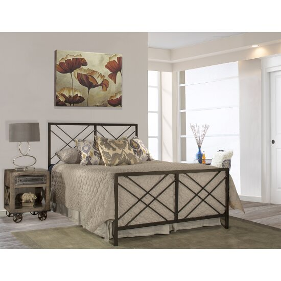 Full Size Bed w/ Metal Bed Rail