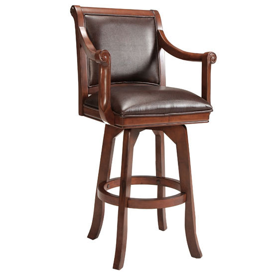 "Hillsdale Furniture Palm Springs Counter Stool, Cherry & Dark Brown Finish, 23"" W x 23"" D x 41"" H"