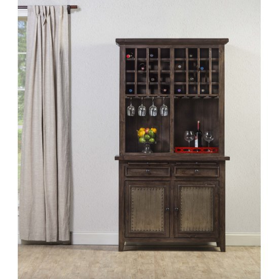 "Hillsdale Furniture Tuscan Retreat ® Buffet and Hutch in Mocha Finish, 44"" W x 18"" D x 83"" H"