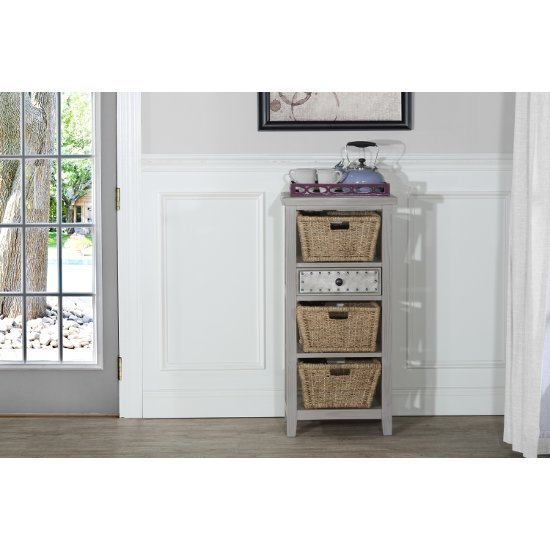 Basket Stand w/ (3) Baskets Taupe